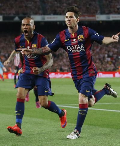 Dani Alves là người kiến tạo nhiều nhất cho Messi 5 mùa giải qua