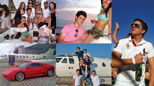 Giới trẻ siêu giàu ở Mexico đang đua nhau khoe của trên mạng xã hội Ảnh: macleans.ca