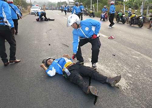 Hiện trường vụ tai nạn hôm 1-3 Ảnh: DƯ HẢI