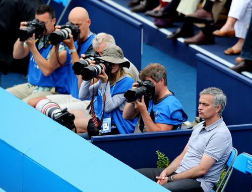 Mourinho xem thi đấu quần vợt ở London