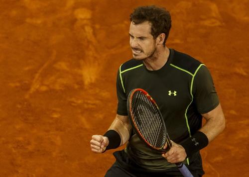 Andy Murray đang thích nghi tốt với mặt sân đất nện