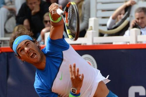 Nadal thi đấu đầy quyết tâm tại Hamburg Open...