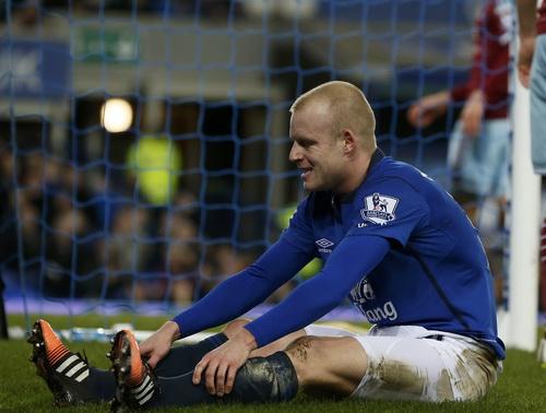 Steven Naismith sau bàn gỡ cho Everton, giữ 1 điểm lại Goodison Park
