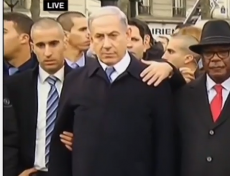 Thủ tướng Israel Benjamin Netanyahu tham gia cuộc tuần hành. Ảnh: i24news.tv