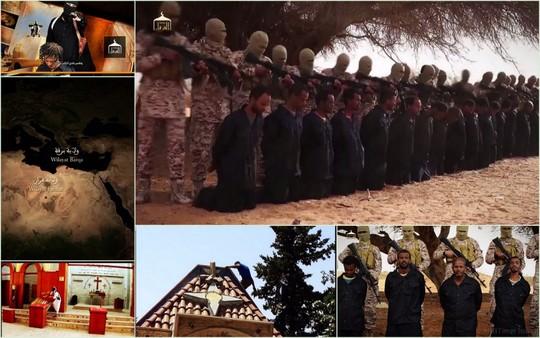 Hình ảnh các con tin Ethiopia bị hành quyết. Ảnh: IBTimes