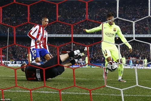 Neymar ấn định tỉ số 3-2 lượt về, đưa Barcelona vào bán kết