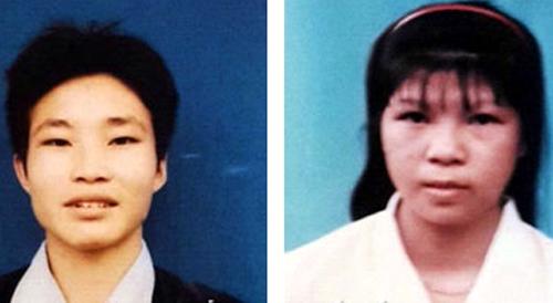Nghi can Đặng Văn Hùng (trái) và cô gái đi cùng  Nguyễn Thị Hán (Hương)