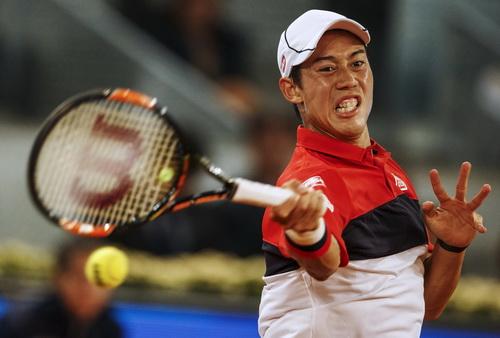 Kei Nishikori đang có phong độ rất tốt tại các giải trên mặt sân đất nện