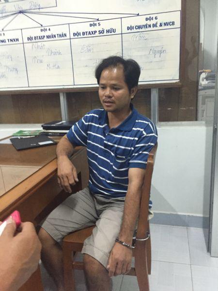 Đối tượng Võ Văn Minh bị bắt sau khi tống tiền