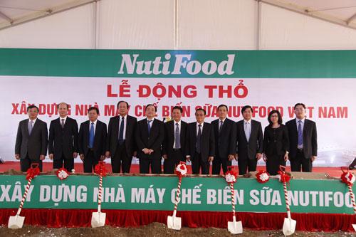 Lễ khởi công dự án Nhà máy sữa Nutifood Việt Nam