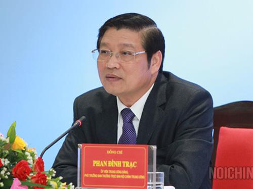 Ông Phan Đình Trạc, Phó Trưởng Ban Nội chính Trung ương - Ảnh: Ban Nội chính Trung ương