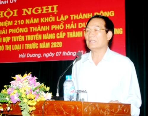 Ông Phạm Thế Tập, Bí thư Thành ủy Hải Dương - Ảnh: Báo Hải Dương