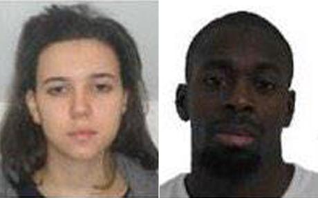 Amedy Coulibaly và bạn gái Hayat Boumeddiene