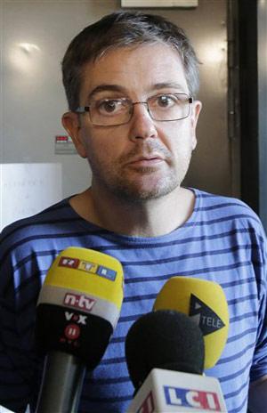 Tổng biên tập tờ Charlie Hebdo thường được gọi với tên Charb. Ảnh: Reuters.