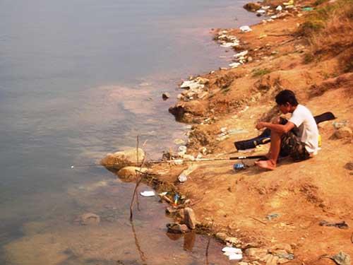 Hồ Đá, nơi tìm thấy thi thể nữ sinh Lê Thị Hà Phương sau nhiều ngày mất tích