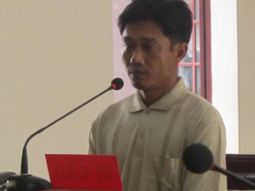 Phan Thế Hoành tại phiên tòa sơ thẩm ngày 7-1