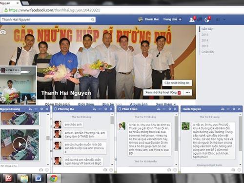 """Trang Facebook của """"hiệp sĩ"""" Nguyễn Thanh Hải tràn ngập tin nhắn tội phạm"""