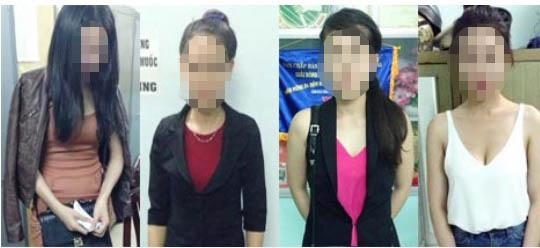 """Các """"chân dài"""" trong đường dây mại dâm của Lê Bảo Lộc Ảnh: Thuận Thiên"""