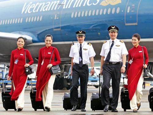 Phi công và Tiếp viên của Vietnam Airlines. Ảnh minh họa