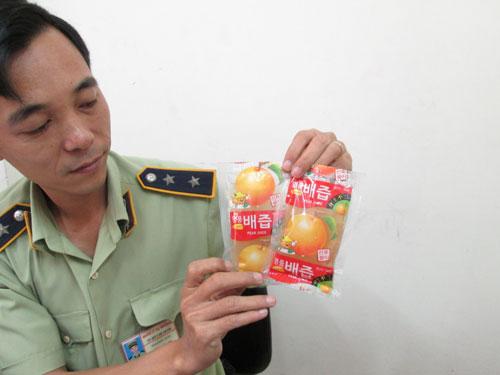 Nước ép trái lê Hàn Quốc không rõ chất lượng