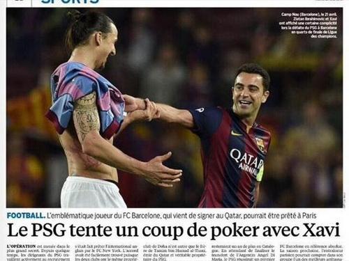 Thông tin trên Le Parisien về việc Xavi gia nhập PSG