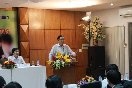 Bộ trưởng Phạm Vũ Luận phát biểu trong buổi tọa đàm. Ảnh: H. Lân