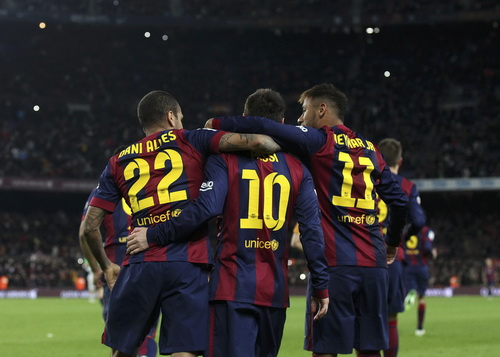 Niềm vuji chiến thắng của Barcelona