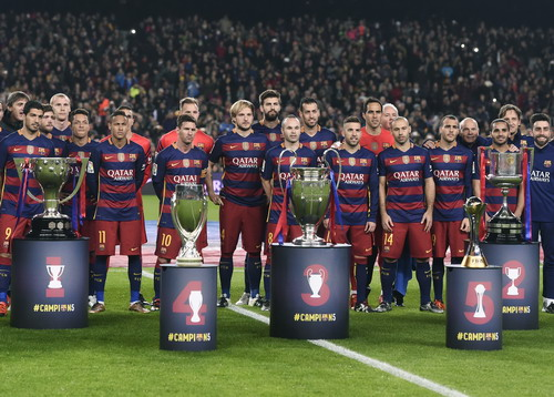 Barcelona với đầu tàu Messi (10) là một tập thể đồng đều và rất mạnh