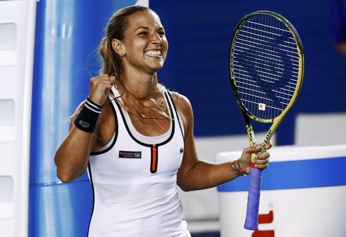 Niềm vui chiến thắng của Cibulkova, đưa cô vào tứ kết