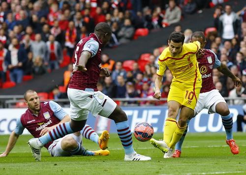 Coutinho mở tỉ số cho Liverpool