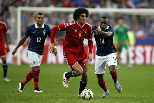 Marouane Fellaini ghi cú đúp cho tuyển Bỉ