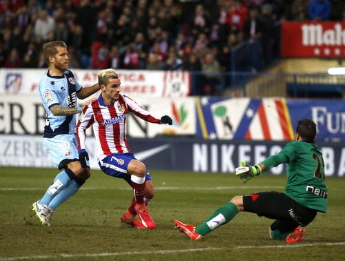 Griezmann ghi hai bàn cho Atletico