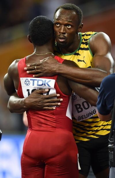 Usain Bolt trân trọng tài năng của Justin Gatlin, kẻ chiến bại vĩ đại dưới tay anh