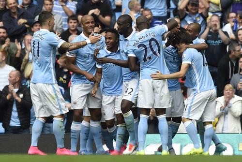 Niềm vui chiến thắng của Man City