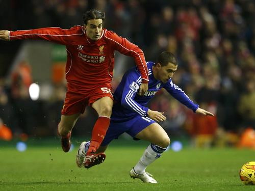 Hàng thủ Liverpool khá thảnh thơi trước các chân sút Chelsea trận lượt đi