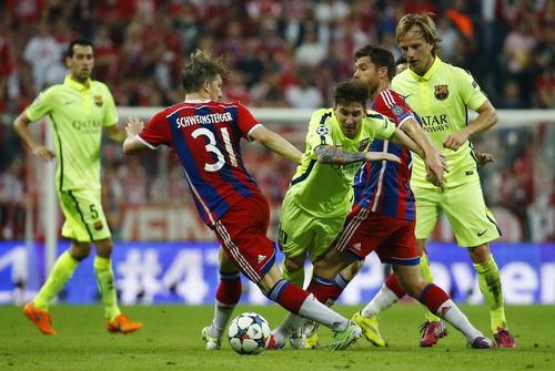 Barcelona đã rất vất vả với chủ nhà Bayern trong trận lượt về