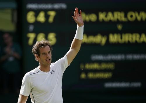 Andy Murray hạ máy giao bóng Ivo Karlovic