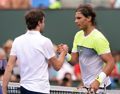 Nadal cũng chứng tỏ ưu thế trước Gilles Simon