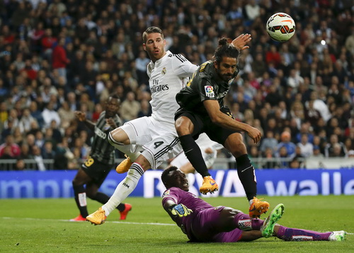 Sergio Ramos mở tỉ số cho Real Madrid