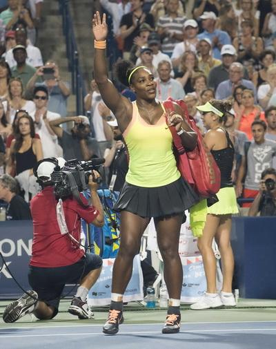 Serena chia tay khán giả Canada sau thất bại ở bán kết