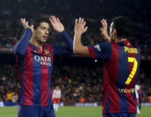 Suarez và Messi cùng lập công cho Barca