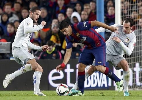 Các chân sút chủ nhà bất lực trước dàn hậu vệ Atletico