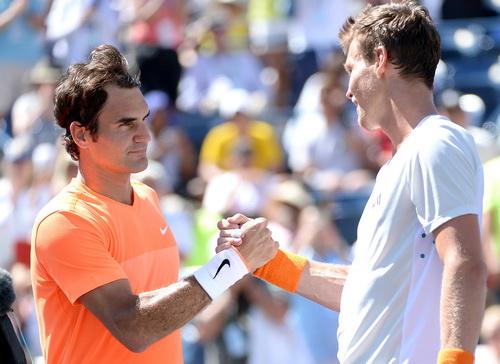 Berdych và Federer sau trận tứ kết
