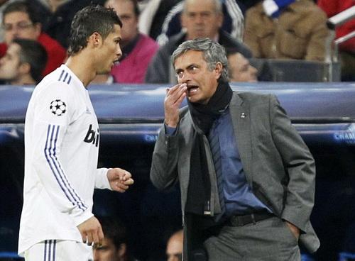 Ronaldo từng đối đầu căng thẳng với HLV Mourinho ở Real Madrid