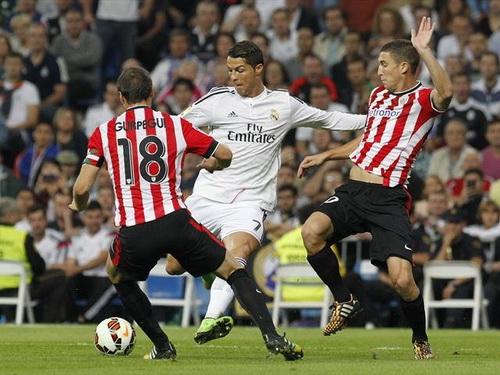Ronaldo thi đấu xông xáo nhưng không ghi được bàn thắng nào trước Bilbao