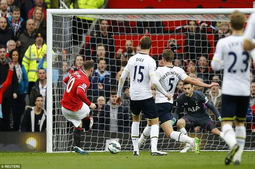 Võ sĩ Rooney ra đòn hạ knock-out Tottenham từ phút 34