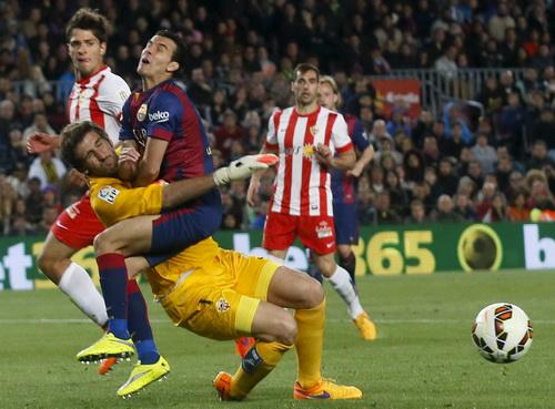 Trận đấu không quá khó khăn trước Almeria của chủ nhà Barca