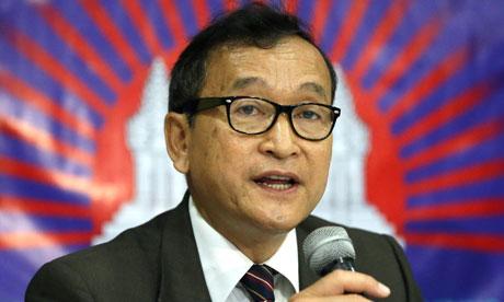 Ông Sam Rainsy được công nhận là thủ lĩnh phe thiểu số. Ảnh: AP