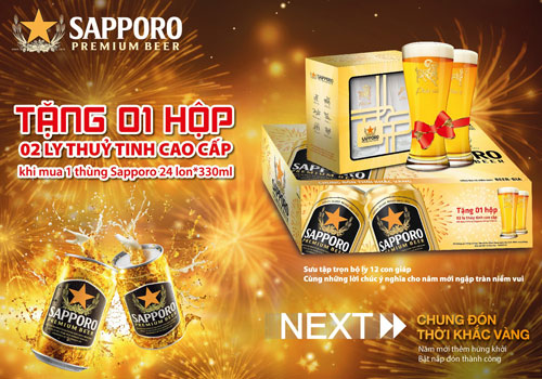 """""""Chung đón thời khắc vàng"""" cùng Sapporo"""
