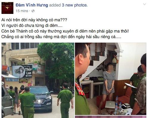 Thông tin được Đàm Vĩnh Hưng đăng tải trên Facebook nhưng sau đó bị gỡ xuống.